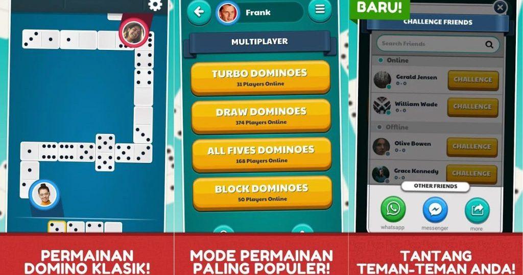 Review Game Dominoes, Game Domino Android Terpopuler Dengan Lebih 50 Juta Unduhan di Playstore